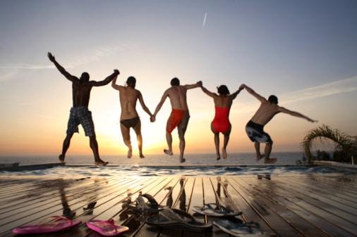 viajar com os amigos