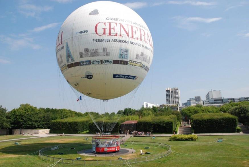 passeio de balão em Paris