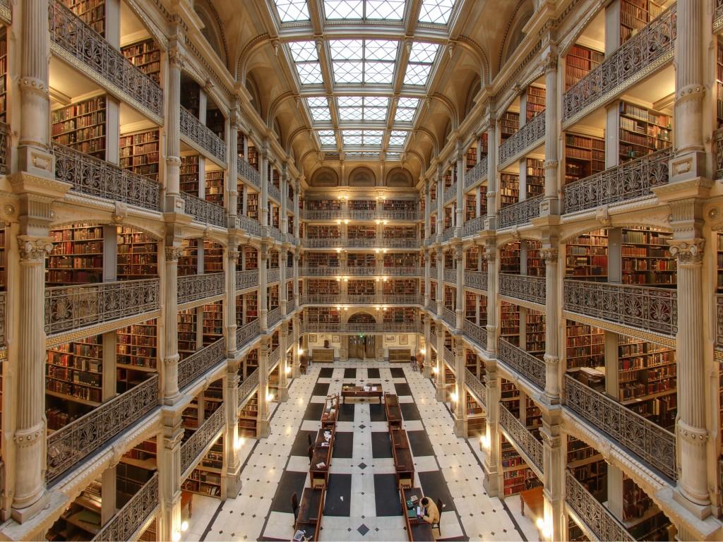 Biblioteca Georges Peabody, Estados Unidos bibliotecas antigas