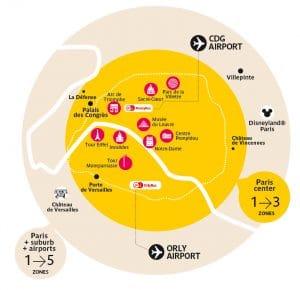 tickets de transporte em Paris
