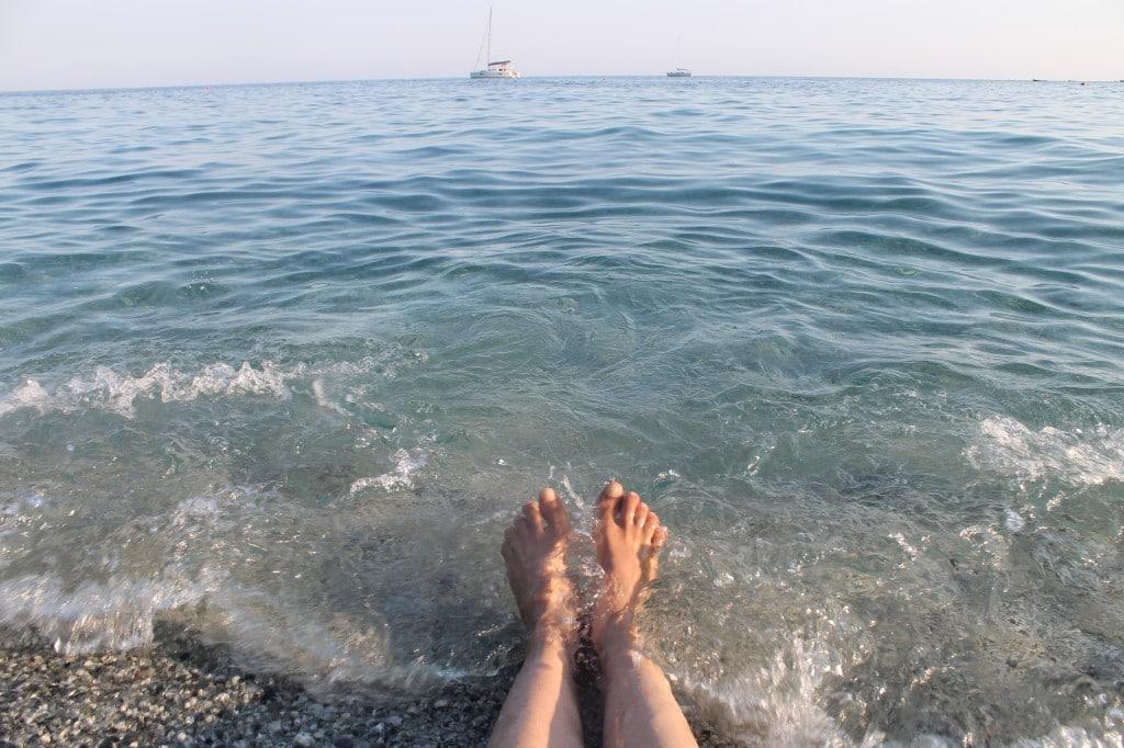 praia cinque terre na itália
