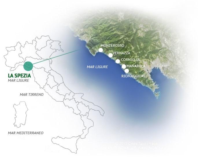 mapa do cinque terre