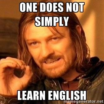 inglês é a língua mais difícil do mundo