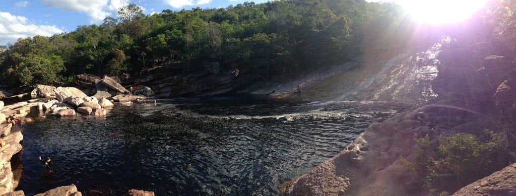 Vista panorâmica da cachoeira chapada diamantina