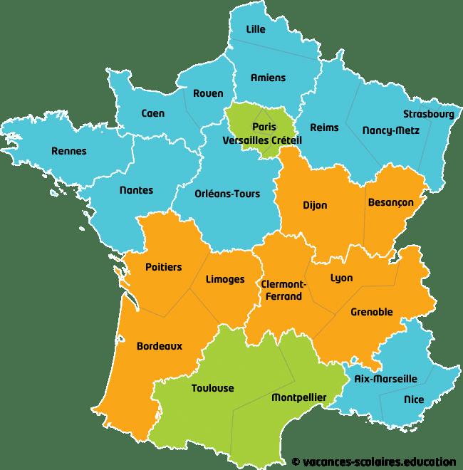 férias escolares 2018 na França
