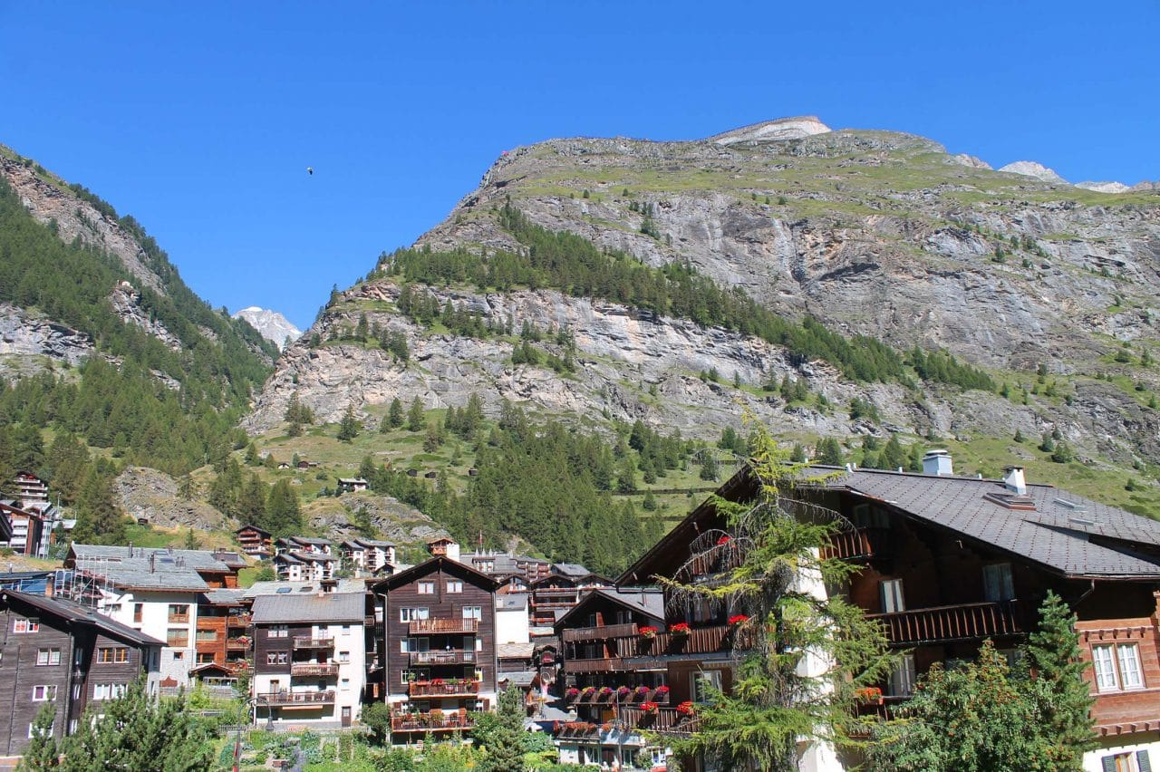 Vilarejo de Zermatt na Suíça