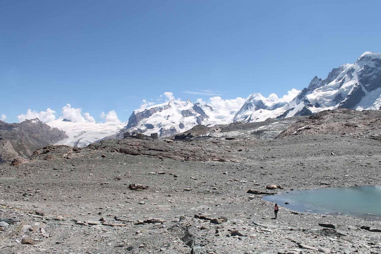 panoramica na trilha da geleira zermatt