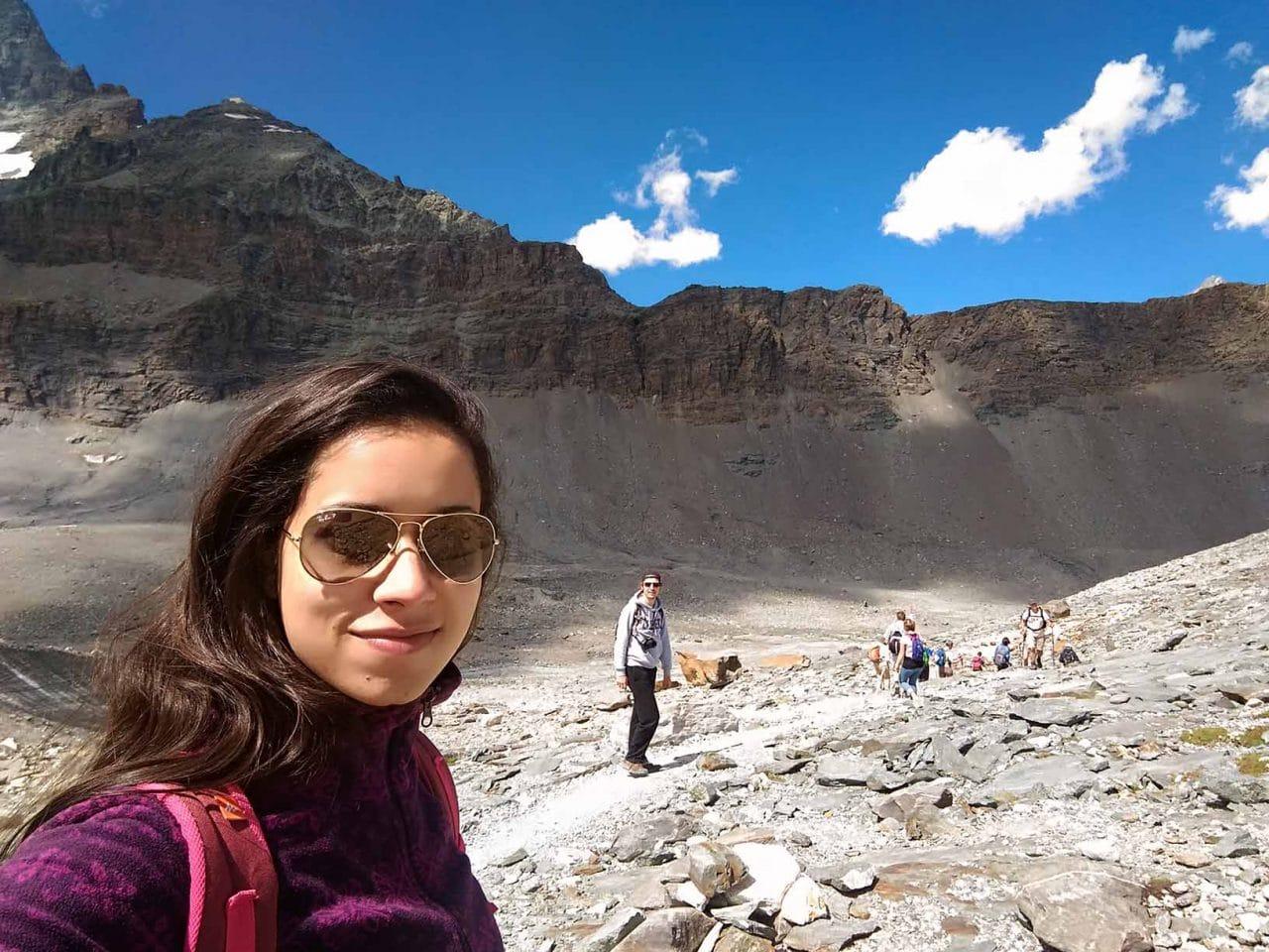 trilha da geleira zermatt