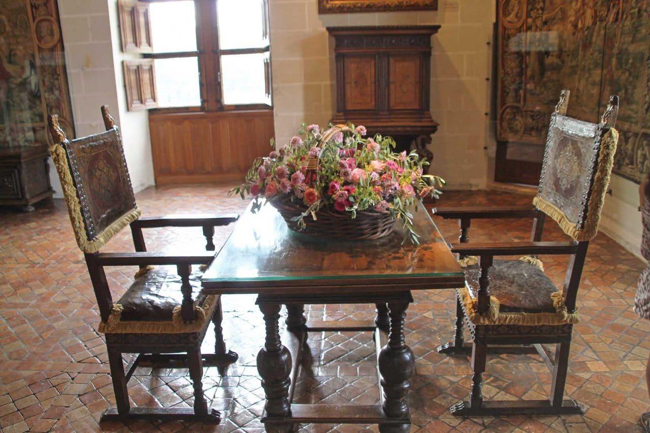 decoracao castelo de chenonceau
