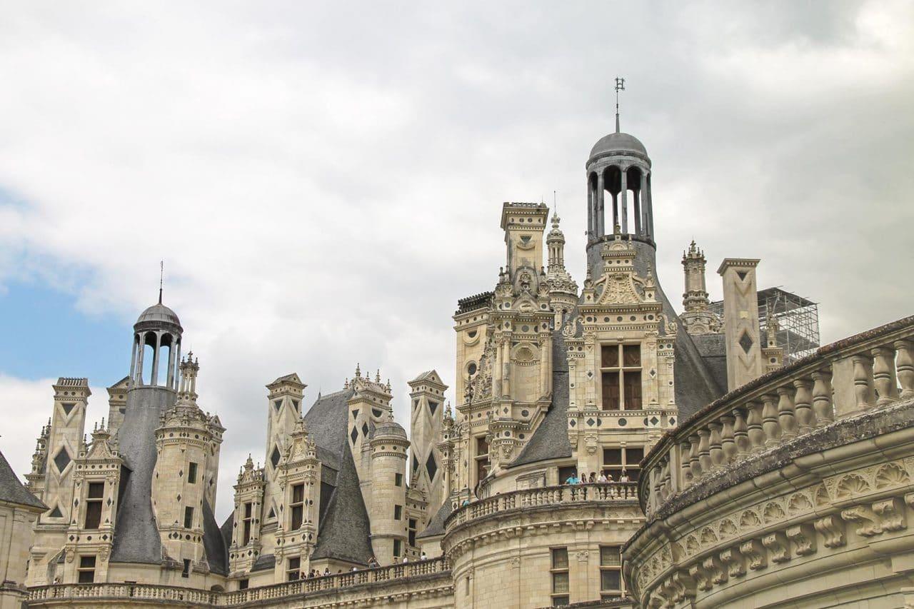 Detalhes arquitetura Castelo de Chambord