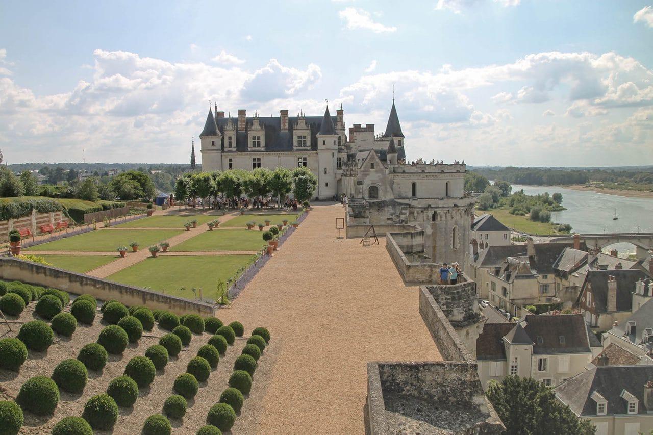 Castelo de Amboise e jardim