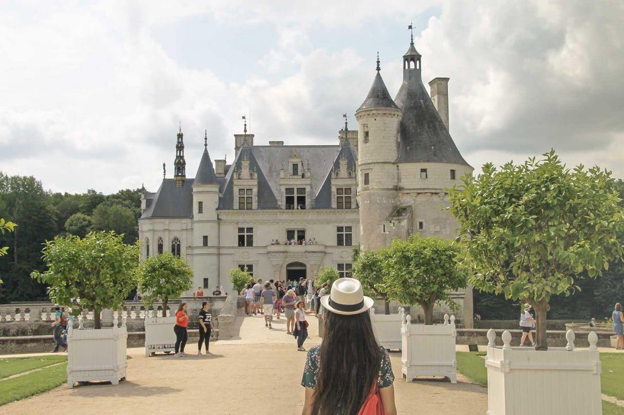 entrada do Castelo de Chenonceau