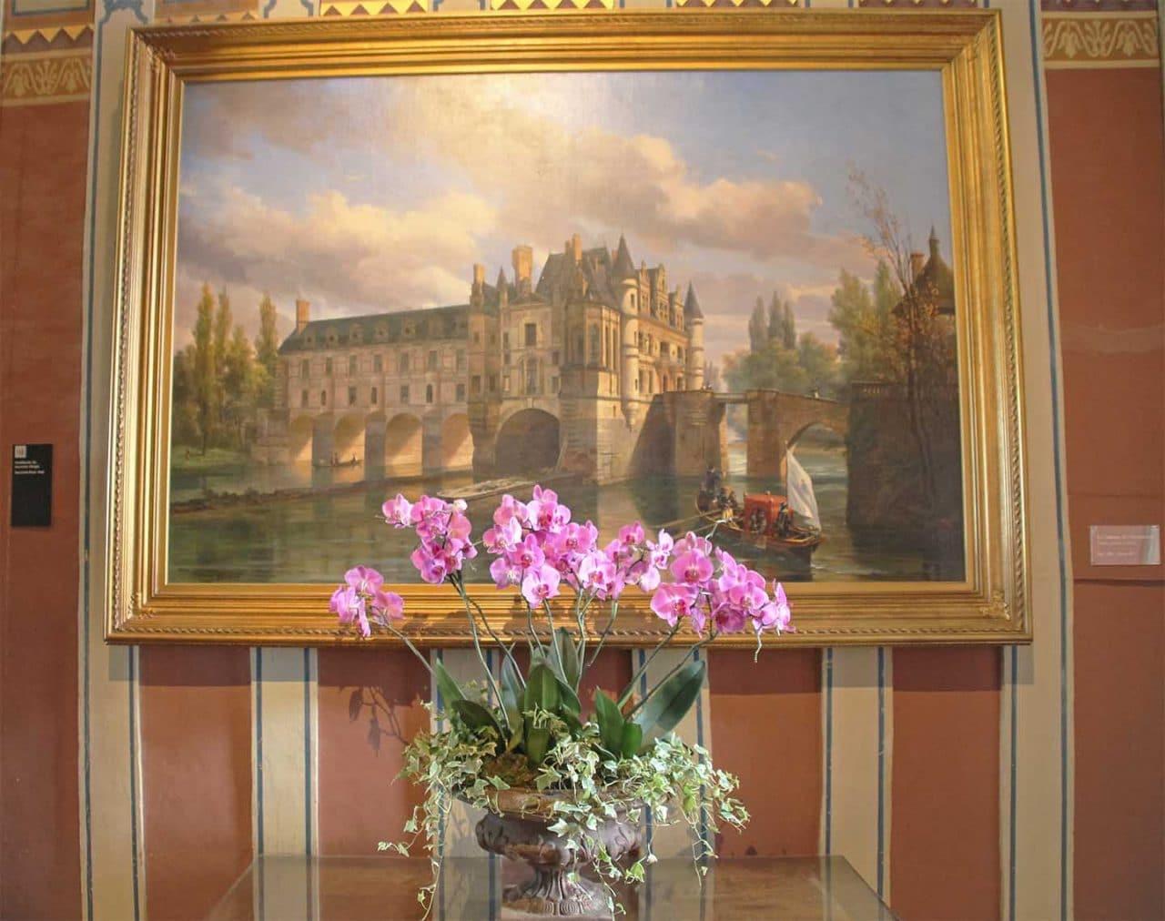 pintura antiga no castelo de chenonceau
