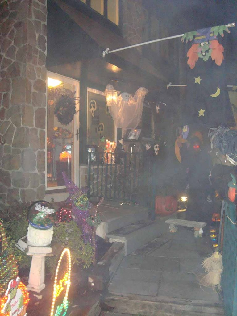 Casa decorada pro halloween