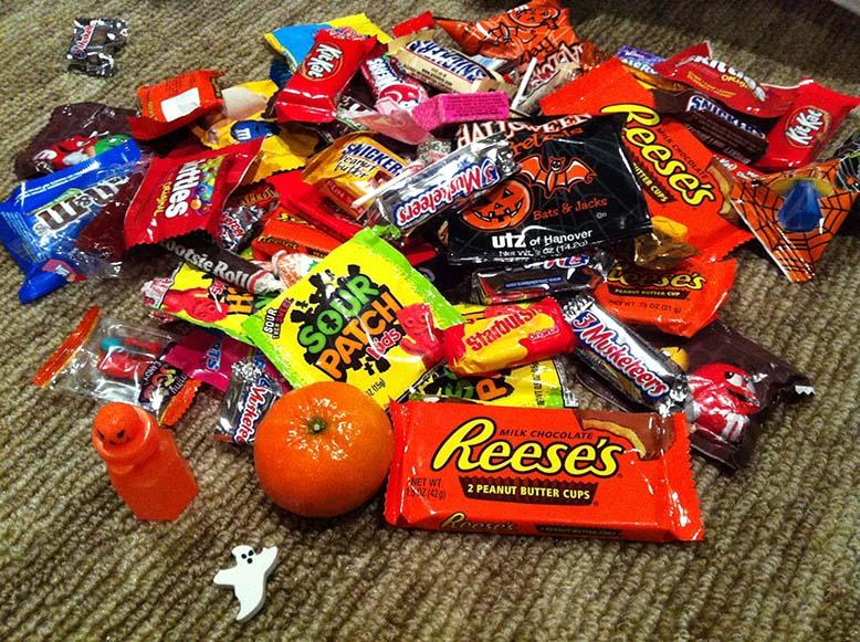Doces de halloween