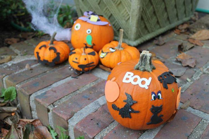abóboras decoradas halloween nos Estados Unidos