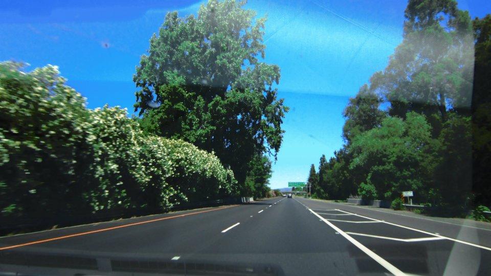 Estrada para Napa Valley
