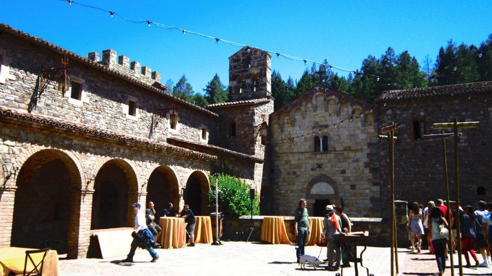 Parte externa do castelo em Napa Valley